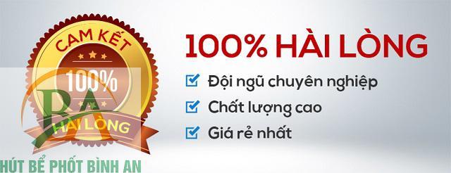 cam kết dịch vụ thông hút bể phốt tại Bình An