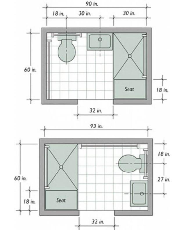 Kích thước nhà vệ sinh trung bình