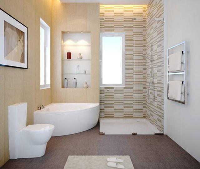 Tránh thiết kế nhà vệ sinh trung tâm căn phòng