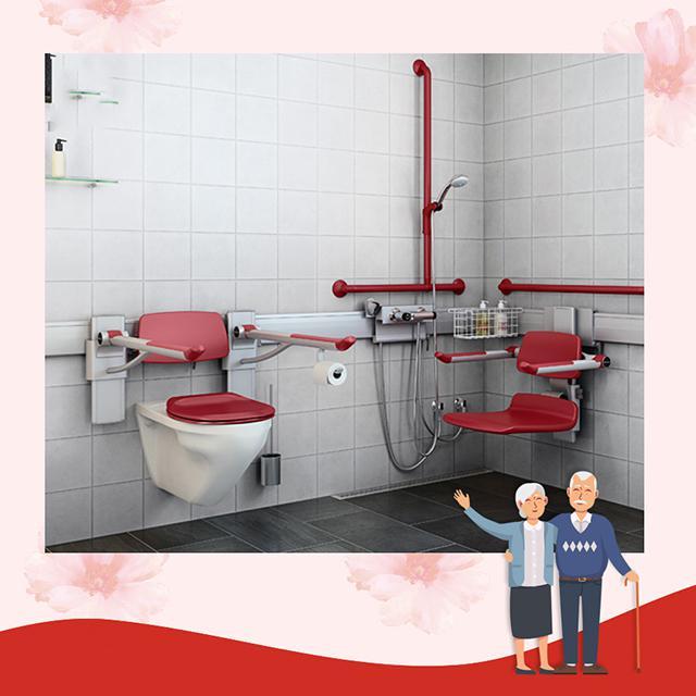 Thiết kế phòng vệ sinh cho người lớn tuổi