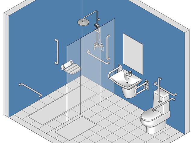 Tiêu chuẩn thiết kế nhà vệ sinh cho người cao tuổi
